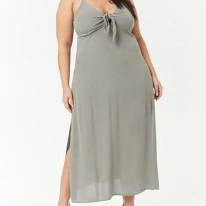 Forever 21 (3X) green maxi dress